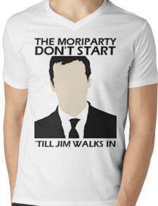 MoriPARTY Mens V-Neck T-Shirt
