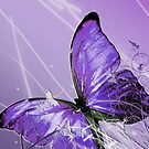 Purple Abstract Butterly by TinaGraphics