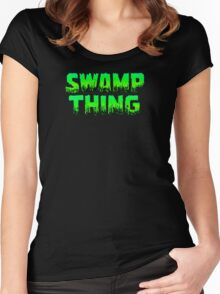 Swampy Thing - Green  Women's Fitted Scoop T-Shirt