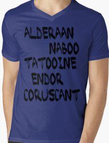 Star Wars Planets Mens V-Neck T-Shirt