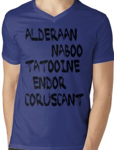 Star Wars Planets Mens V-Neck T-Shirt