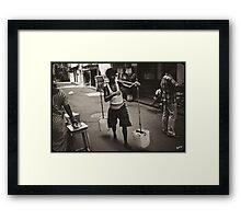 Kolkata man carrying water, 2011 Framed Print