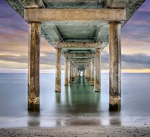 Under Brighton Jetty - South Australia by Shannon Rogers