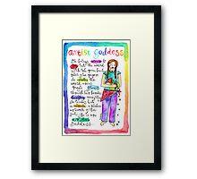 Artist Goddess` Framed Print