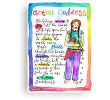 Artist Goddess` Canvas Print