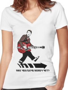 Marty Mcfly Johnny B Goode Women's Fitted V-Neck T-Shirt