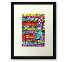 Glad Goddess Framed Print