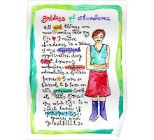 Goddess of Abundance Poster