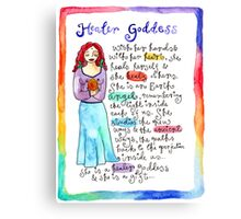 Healer Goddess Canvas Print