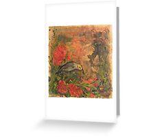 White Plumed Honey Eater Greeting Card