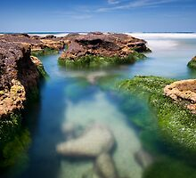 Caves Beach Islands - 2 by Michael Howard