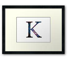 Kappa Greek Letter Framed Print