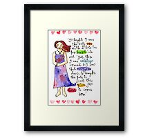 The Place For Love To Come In Framed Print