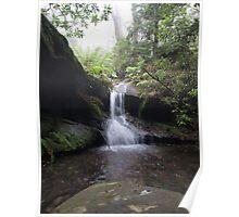 Upper cascades, Fairy Bower Falls, Bundanoon Poster