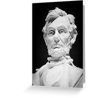Lincoln Memorial Statue Greeting Card
