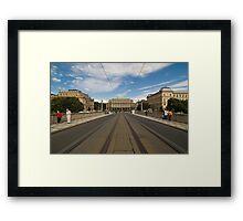 street view from Prague Framed Print