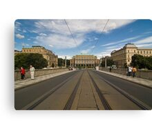 street view from Prague Canvas Print
