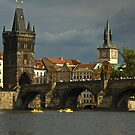 View of Charles Bridge in Prague by katta
