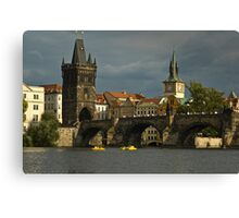 View of Charles Bridge in Prague Canvas Print