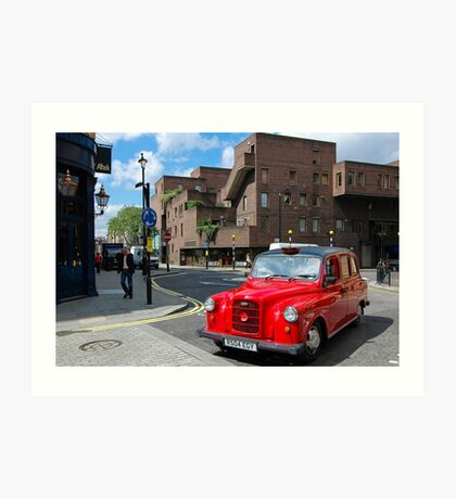 Red cab in London - England Art Print