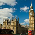 View of House of Parliament with Big Ben, London by katta
