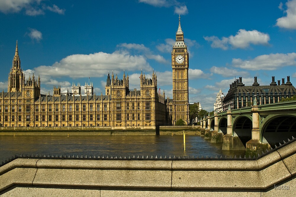House of Parliament and Big Ben, London, England by katta