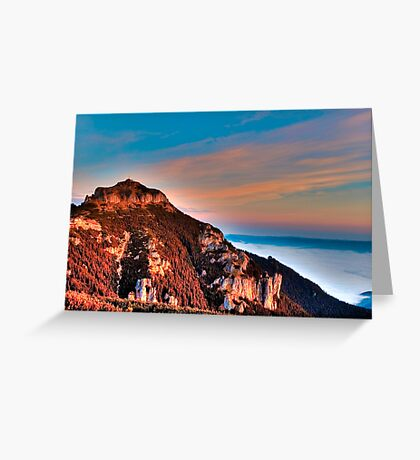 mountain peak Ceahlau Toaca Greeting Card