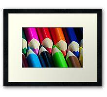 Coloured Pencils Framed Print