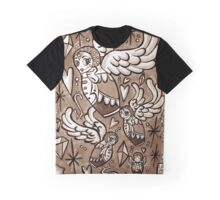(Sepia) Wings of Desire Graphic T-Shirt