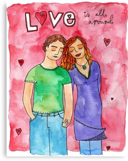 Love Is All Around by GoddessLeonie