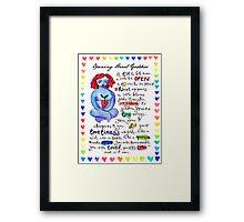 Opening Heart Goddess Framed Print
