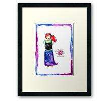 She Chose Love Framed Print