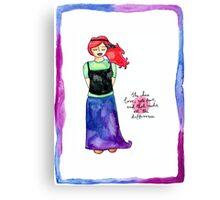 She Chose Love Canvas Print
