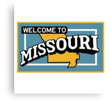 Welcome to Missouri, Vintage Road Sign 50s  Canvas Print