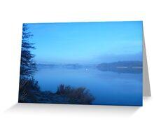 Stillness of a Freezing Dawn Greeting Card