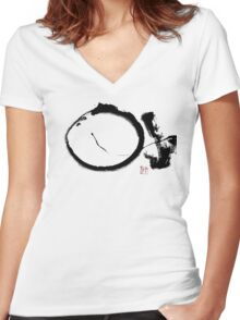 Last Enso Women's Fitted V-Neck T-Shirt