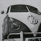 Split Screen VW Camper by samcannonart