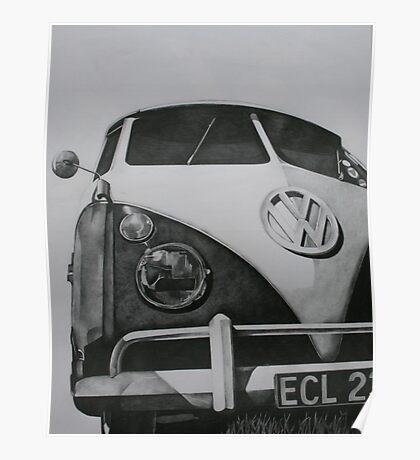 Split Screen VW Camper Poster