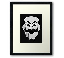 mask robot Framed Print