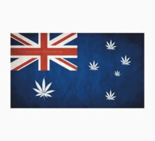 Australian Cannabis Leaf Flag T-Shirt