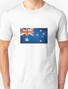 Australian Cannabis Leaf Flag T-Shirt