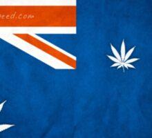 Australian Cannabis Leaf Flag Sticker