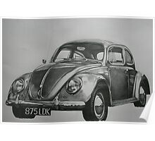 Classic VW Beetle Poster