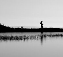 Hill walking with a Dog by Dave Mercer