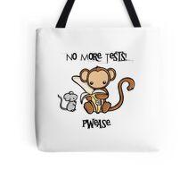 No More Animal Testing Tote Bag