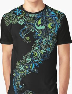 Dolphin - floral with flowers pattern Graphic T-Shirt