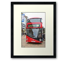 New London bus Prototype Framed Print