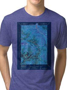USGS Topo Map Washington State WA Mount Olympus 242514 1942 62500 Inverted Tri-blend T-Shirt