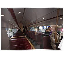 Upstairs on the new london Bus prototype Poster