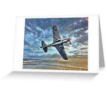 Birds eye view. ( P-40_Warhawk Flying Tiger) Greeting Card